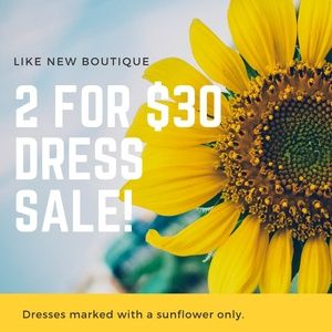 2 for $30 Dress Sale!